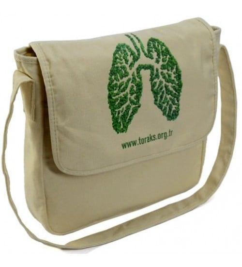 Kanvas kumaş postacı çanta